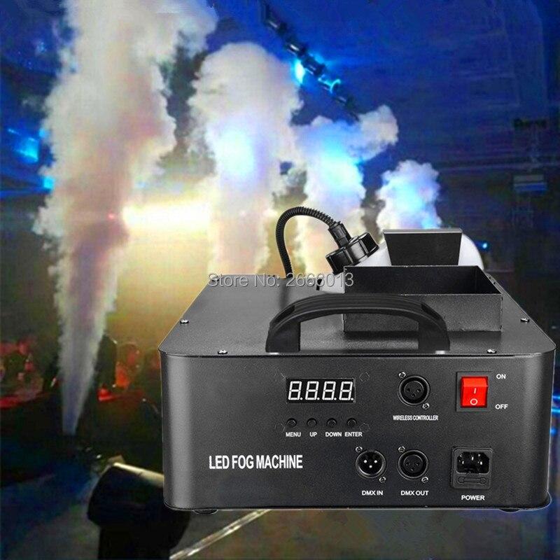 High quality 1500W RGB 3in1 LED Fog Machine 2.5L DMX512 Smoke Machine With 24*3w Light Professional Stage Machine DJ/Bar Fogger