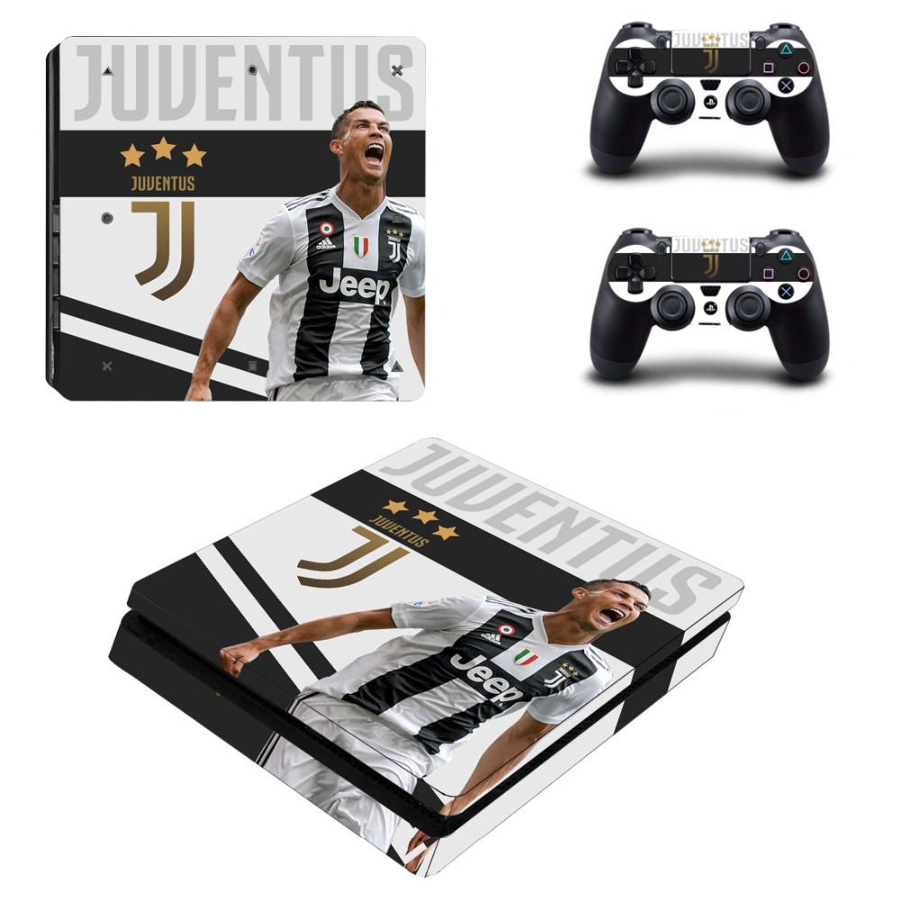Cristiano Ronaldo CR7 PS4 Slim Skin Sticker For PlayStation 4 Console and Controllers Decal PS4 Slim Skin Sticker Vinyl