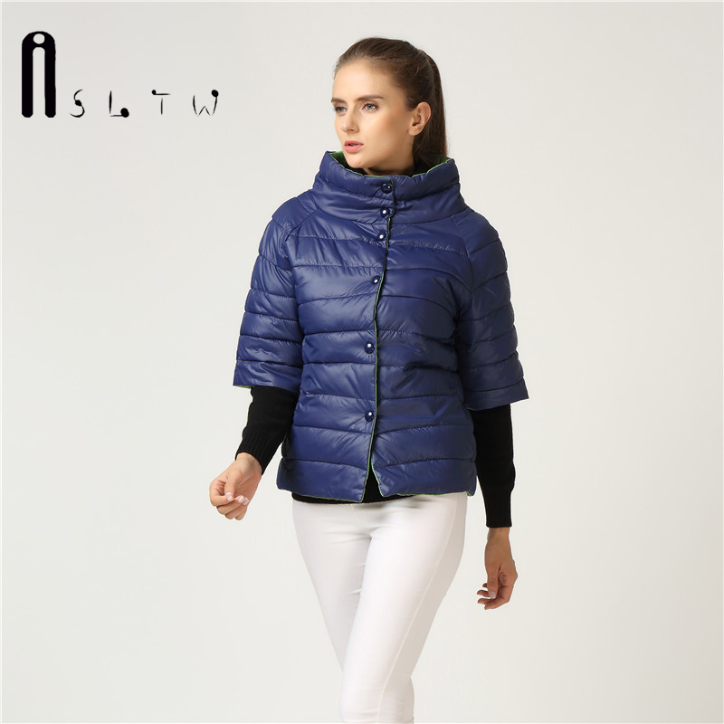 New Arrivals Wadded Clothing Female New Women S Autumn Winter Cotton Jacket Slim Half Sleeve Parkas