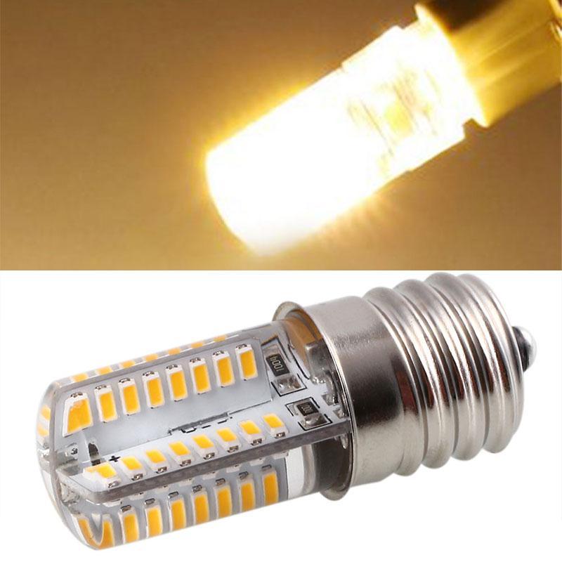LED Bright Lamp E17 AC 110V 5W Corn SMD Silica Ge Bulb Home Bedroom Bar Light White Warm Bulb