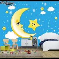 Beibehang Custom Photo Wallpaper Mural 3d Stereo Simple Fresh Moon Sky Children House Background Wallpaper Papel