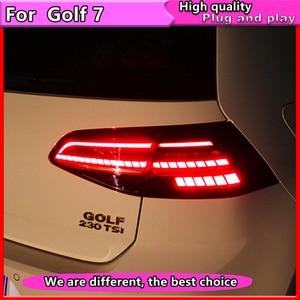 Image 2 - Car Styling for VW Golf 7 Tail Lights 2013 2015 Golf7 MK7 LED Dynamic turn signal Tail Light GTI R20 Rear Lamp