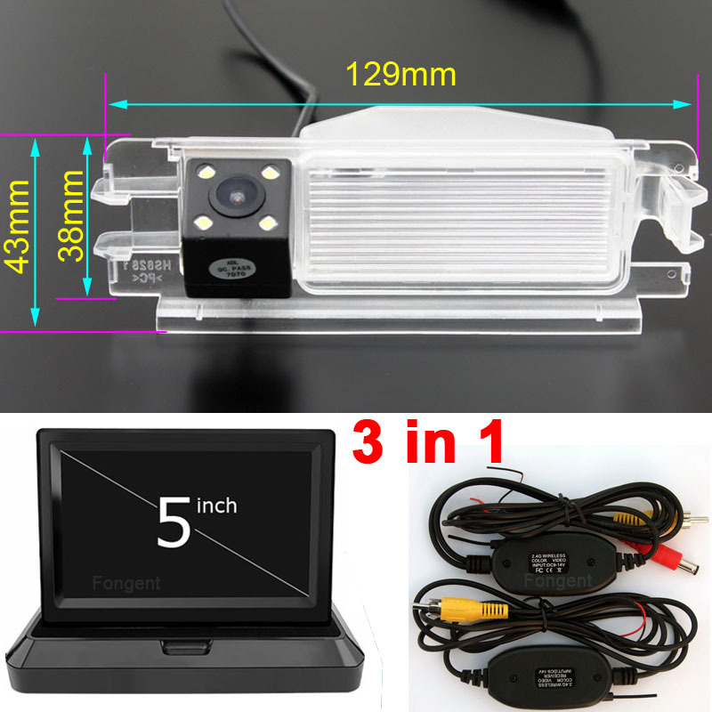 For Renault Dacia Duster Sandero 2013 Vehicle Reverse Back Vision Parking Rear View Wireless Camera Monitors Auto Video Player
