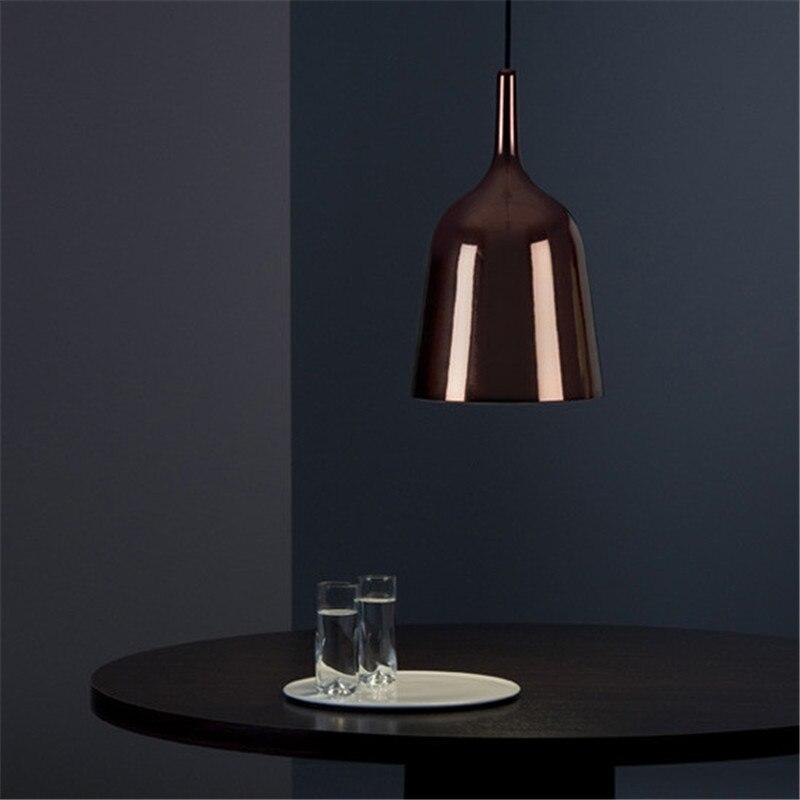 Original écologie espagne nordique Bar Restaurant café fer lustre inverse cloches personnalité suspension cloche lampe livraison gratuite - 3