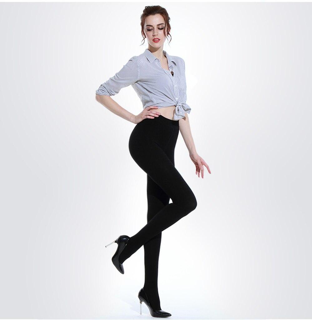 Ladies Black Thermal Knee High Socks Tights Leg Warmers Winter Warm 200D Thick