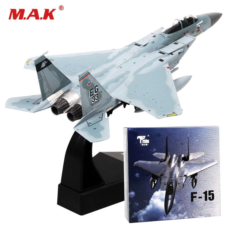 kids toys 1/100 F-15 Eagle Alloy Diecast U.S. Fighter Air Force Diecast Aircraft Plane model Toy new year gift for boy force f 616