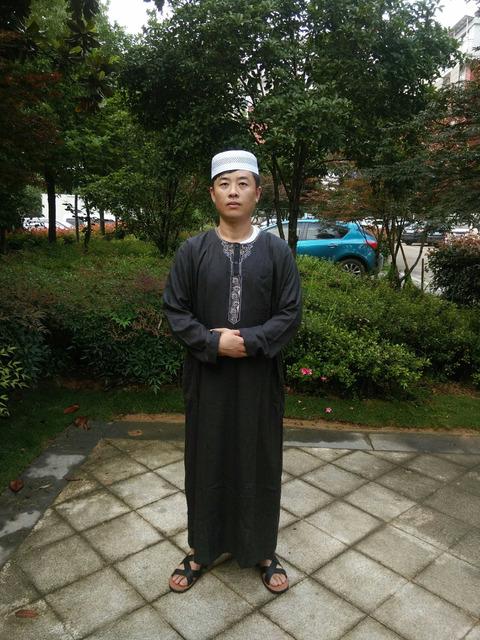 Thobe islâmico abaya vestuário muçulmano para homens Manga Longa Branca para homens Jubba árabe islam Vestuário 62702