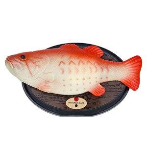 Image 5 - おかしい電子歌うプラスチック魚のバッテリ駆動ロボット玩具シミュレーション魚ノベルティパロディーおもちゃハロウィン装飾再生