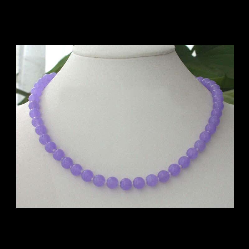 Natural Alexandrite Necklace: Ffwang00100357++8MM Natural Alexandrite Beads Necklace 17