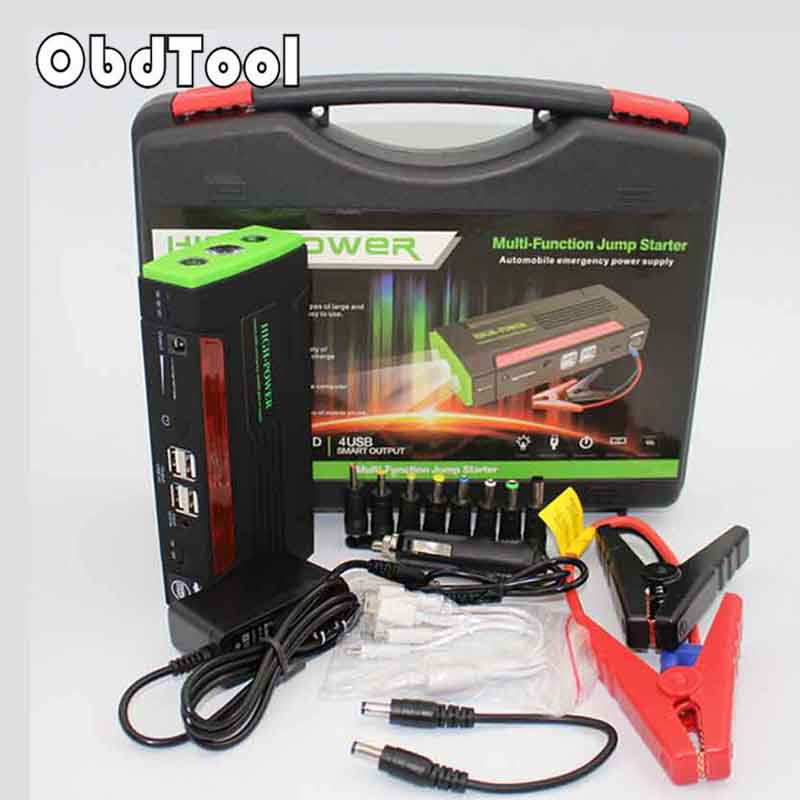 NEW 68800mah Car Jump Starter Mini Portable Emergency Charger for Petrol & Diesel Car Mobile Power Supply with 4 USB Port LR15