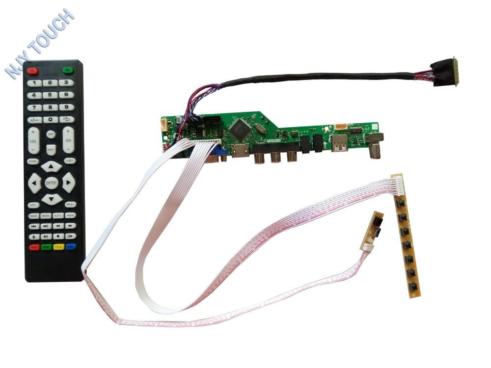 Powerful HDMI USB AV VGA ATV LCD Controller Board kit for 15 6inch LTN156AT05 1366x768 Screen