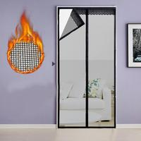 Transparent Soft Door Curtain Anti Mosquito 90x210cm Magnetic Automatic Attraction Mesh Screen Door Fly Bug Insect