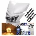 12 В 35 Вт Мотоцикл ATV Изменение Желтый Свет Привет/Низкий Dual Обтекателя Фара Лампа АБС-пластик