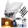 12V 35W Motorcycle ATV Modified Amber Light Hi/Low Dual Fairing Headlight Lamp ABS plastic