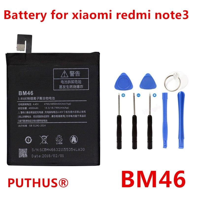 PUTHUS Mobile-Phone-Batteries Bm46-Battery Note3 Mi Xiaomi 4000mah For Repair-Tools Pro