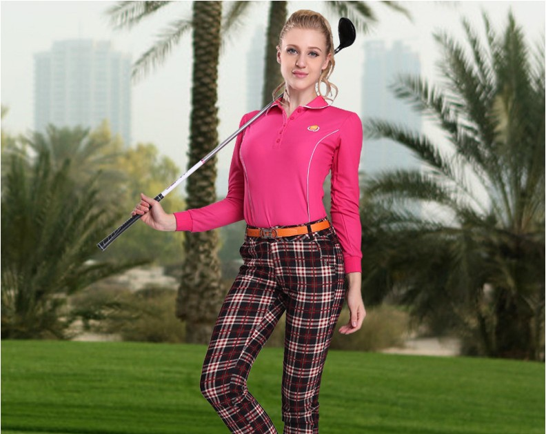 PGM Women Outdoor Fit Polomens Golf Polo Shirts Quick Dry Long Sleeve Golf T-shirts Clothing Table Tennis Shirt,Free shipping