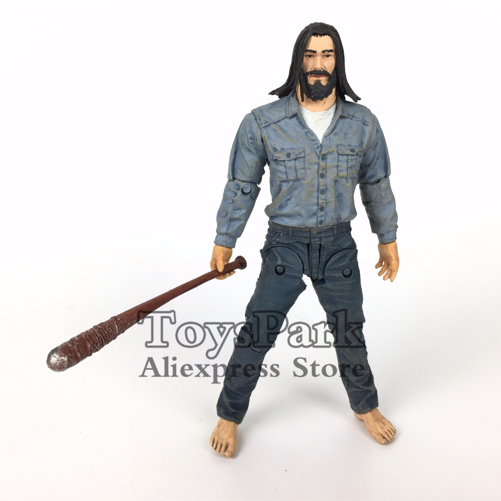 The Walking Dead 5 Negan Action Figure With Bat Lucille Mcfarlane Comic Series 5 Collectible Toys No Retail Box image