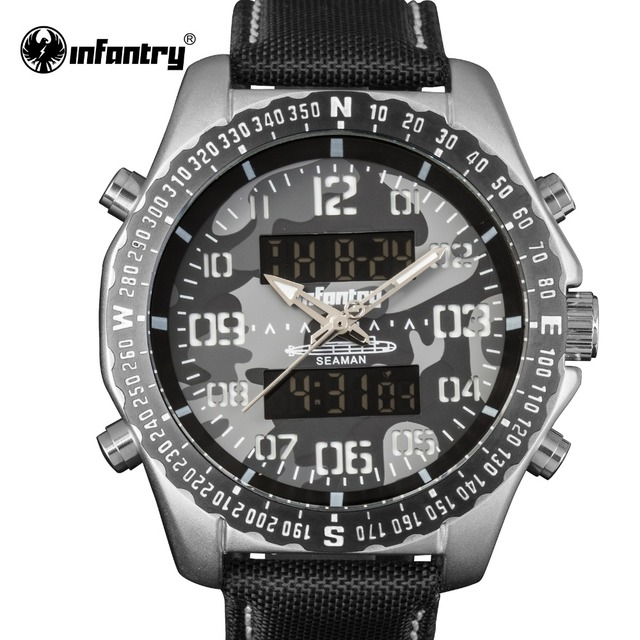 9bf3670b2f0 INFANTARIA Relógio Militar Dos Homens LEVOU Digital De Quartzo Dos Homens  Relógios Top Marca de Luxo