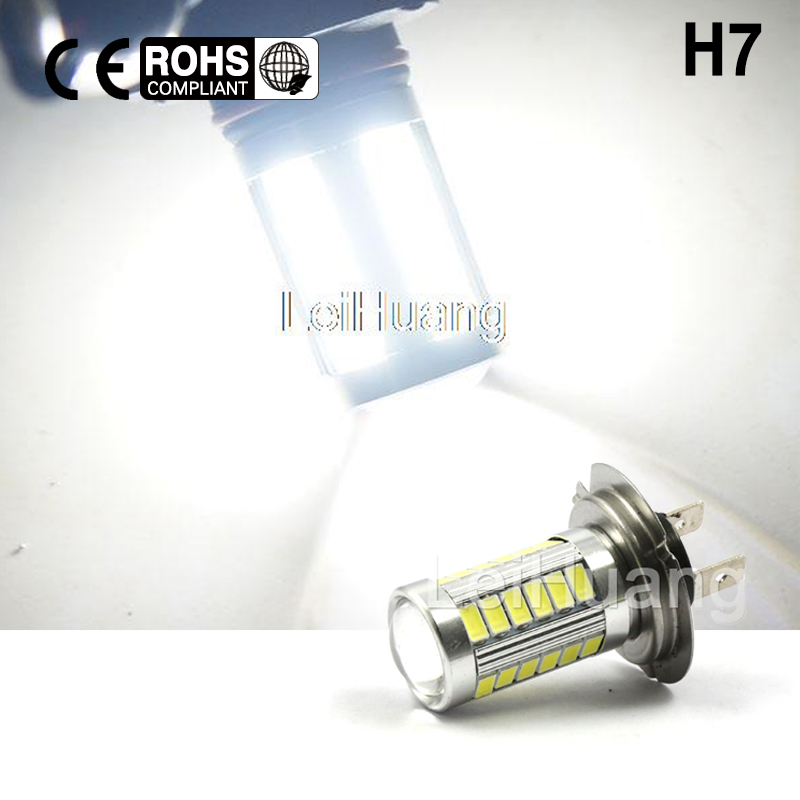2pcs H7 High Power LED Light Fog Light Headlight Driving DRL Car Light Auto Lamp Bulb white