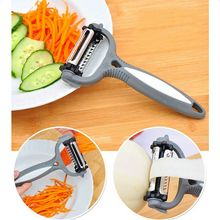 2019 1PC Three In One Multi-function Rotating Peeling Knife Fruit Vegetable Digger Peeler Shaver Home Kitchen Accessories Tools