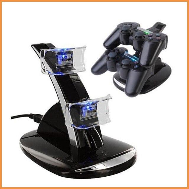 Двойной Зарядное Устройство с USB LED для Док-Станции Подставка для Зарядки для Playstation 4 для PS4 Controller