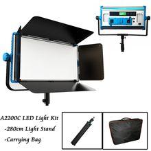 140 app & リモート制御rgbソフトledランプ写真連続ライトセット写真スタジオビデオフィルムライト + 三脚 + ハンドバッグ