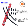 Car Windshield Wiper Blade Para Citroen C3 Pluriel, C3, C-Crosser, DS3, Nemo, C3 Picasso, C5, Berlingo, Jumper, borracha Natural