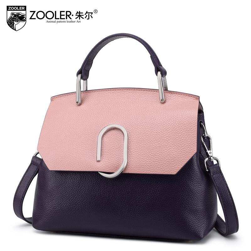 ZOOLER New Superior cowhide Genuine Leather bag fashion luxury handbags women Shells bags designer women leather shoulder bag
