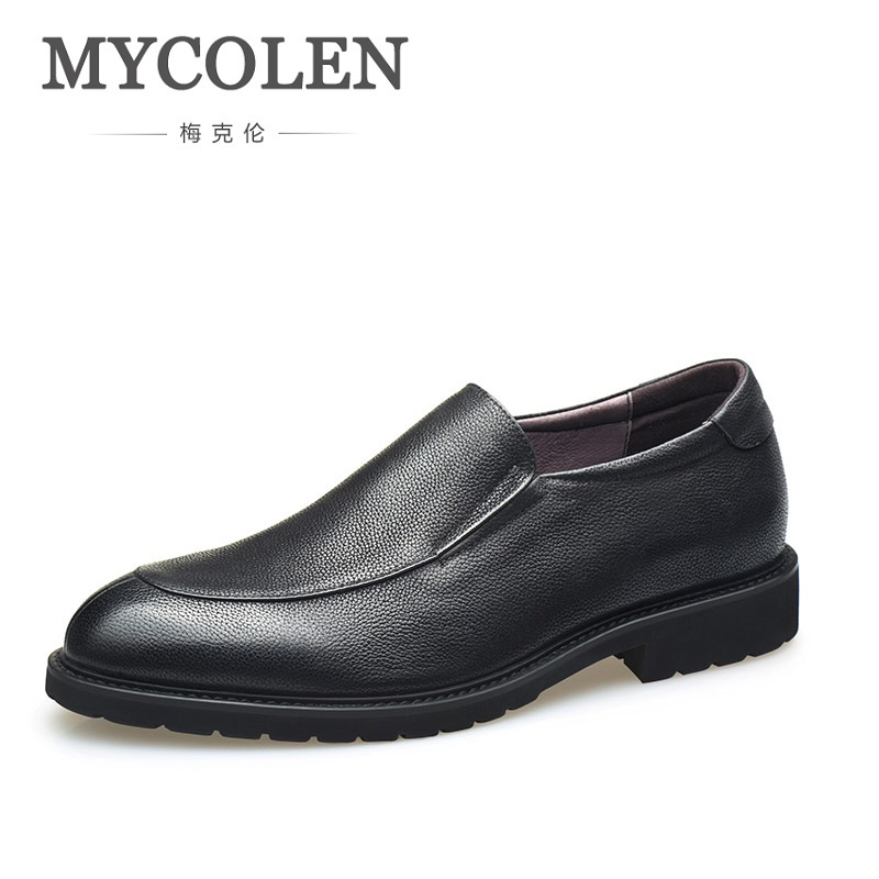 MYCOLEN 2018 The New Listing Men Shoes Genuine Leather Black Brown Men Flat Shoes Classic Hand Sewing Men Shoes Herren SchuheMYCOLEN 2018 The New Listing Men Shoes Genuine Leather Black Brown Men Flat Shoes Classic Hand Sewing Men Shoes Herren Schuhe