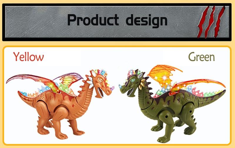Eletrônica Piscando Dinossauro do Jurássico Frescos Animais