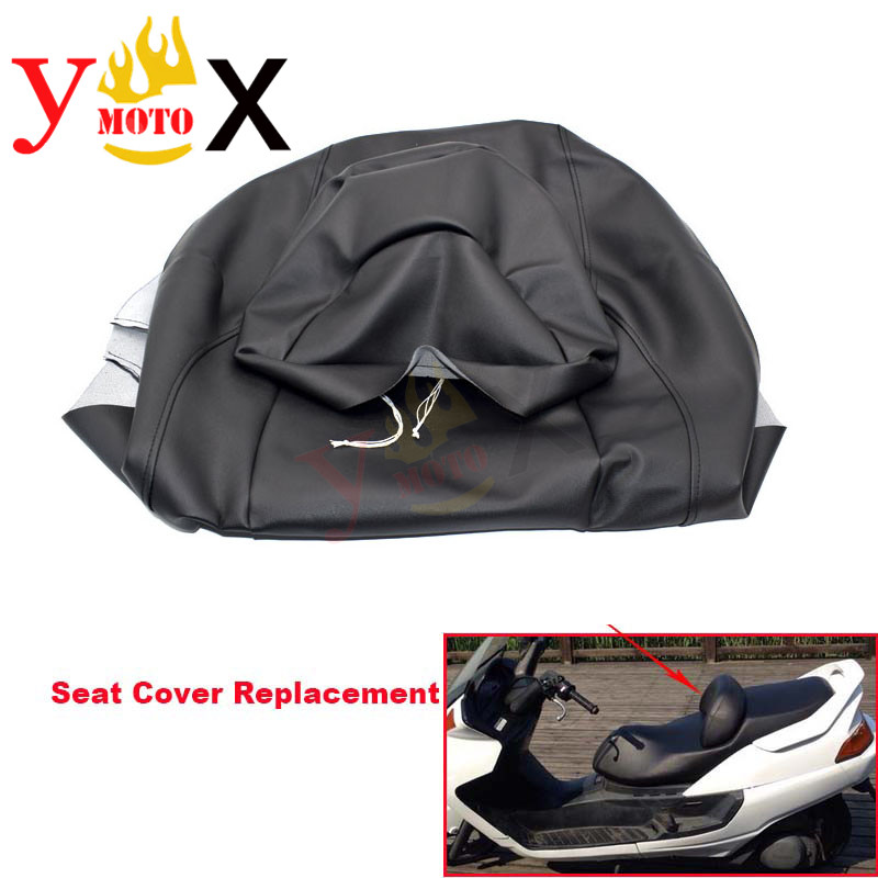 Thick PU Leather Scooter Motorcycle Seat Cover W Front Pad Cushion Cover Waterproof For YAMAHA Majesty