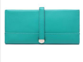 Carteira senhora segurando a bolsa, 2017 novo longa de couro cor pure carteira Carteira, saco de mão