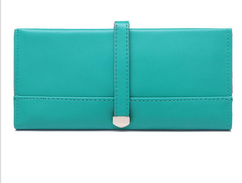 Wallet lady holding the purse, 2017 new leather long pure color wallet Wallet, hand bag holding the line