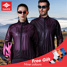 Santic Cycling Jersey Rain Jackets Windproof дождевик мужской Waterproof Men Women Protective UPF40+ Fabrics Camperas 7C07025