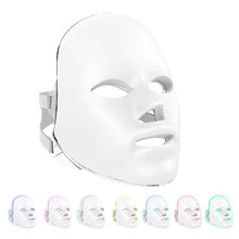 Led Mask Facial Beauty Ultralight Version Photon LED Therapy 7 Colors Light Skin Care Rejuvenation Wrinkle Acne Removal Beauty(China)