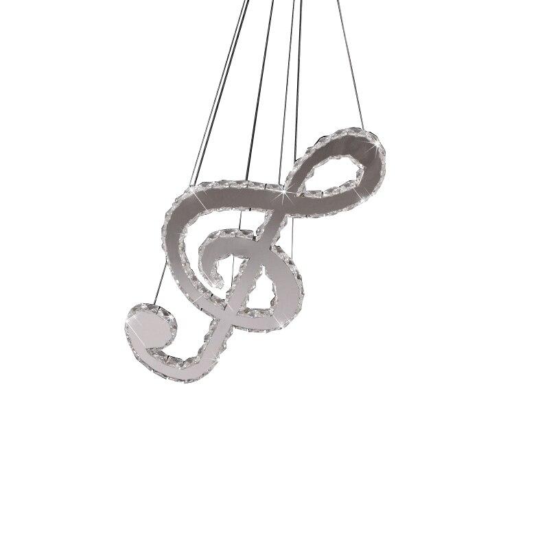 Lampe à suspension musicale créative en cristal moderne pendentif LED pour salon salle à manger décor à la maison