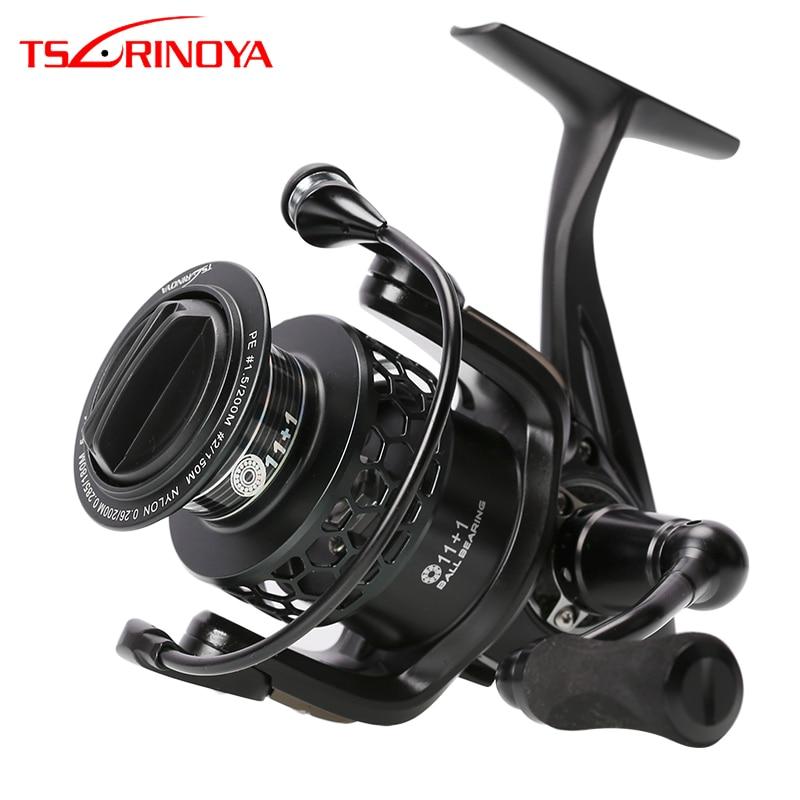 TSURINOYA TSP3000 12BB Metall Aluminium Spinnande Fiskrulle Fällbar Vänsterhand Märke Kvalitet Fiske Rullar