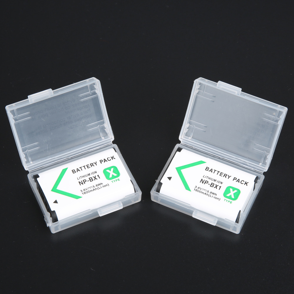 2pcs/lot NP-BX1 NP BX1 Battery Pack for SONY DSC RX1 RX100 RX100iii M3 RX1R WX300 HX300 HX400 HX50 HX60 GWP88 PJ240EAS15 WX350