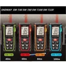 SNDWAY Laser Distance Meter 40m 60m 100m 120m Measuring Instrument SW-T40 SW-T60 SW-T80 SW-T100 Measure Tape Distanc