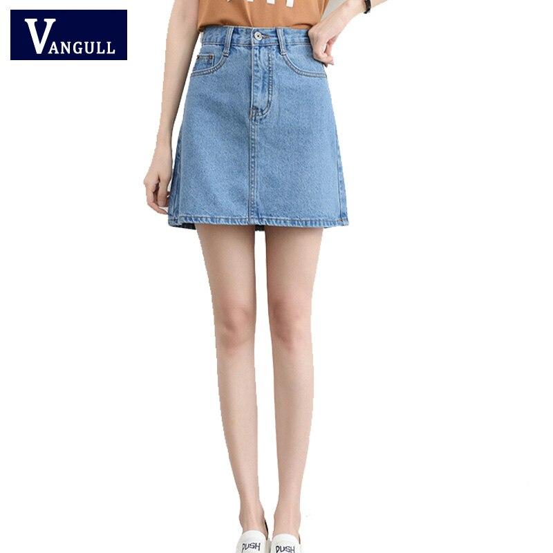 High Waisted Denim Skirt Hot Sale Summer Casual Saias ...