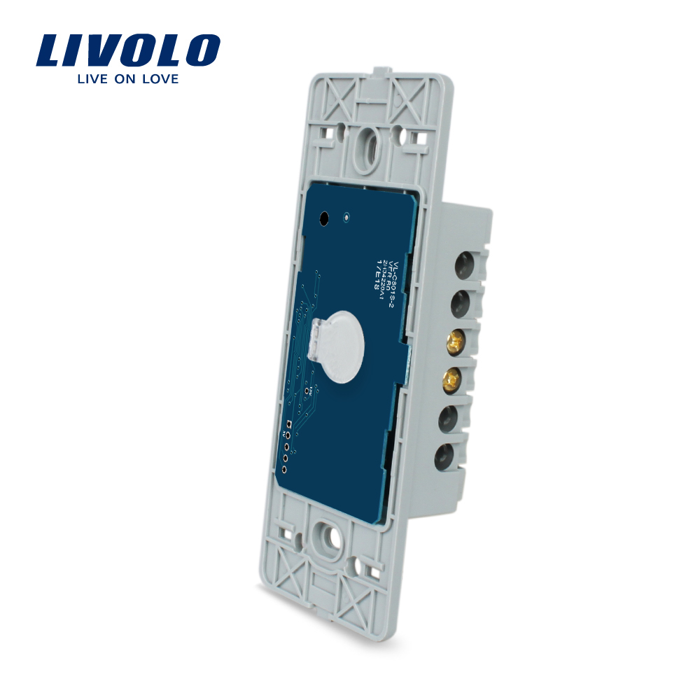 Livolo US standard One gang Base of Touch Screen Wall Light Switch, Without glass panel , VL-C501 livolo us standard base of wall light touch screen remote switch ac 110 250v 3gang 2way without glass panel vl c503sr page 3