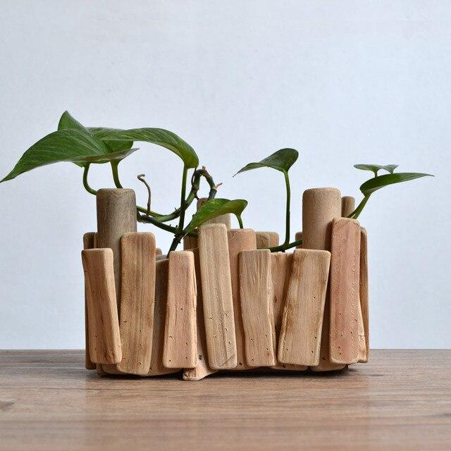 F Habitat Handmade Wooden Rectangular Pots Slow Life Landscape Wood