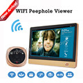 "Rollup iHome 4 Smart Home WIFI Wireless Peephole Video Doorphone System 7"" LCD Monitor Zine Alloy Material+2.0 MP Camera"