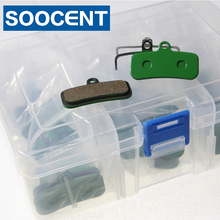 купить 20 Pairs Green Semi-Metallic Disc Brake Pads for Shi Zee/M640/Saint/M800/M810 Disc Brake по цене 2161.05 рублей