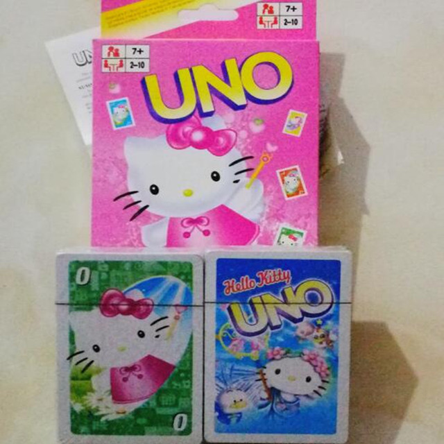 Uno Kitty Cat Cartoon Game Cards With The English Uneed Chess Game