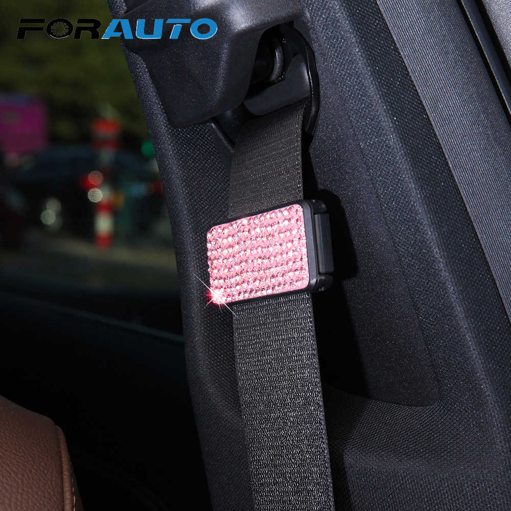 FORAUTO Car Accessories 1pc Car Seat Belt Clip Vehicle Adjustable Seat Belts Stopper Buckle Car Safety Belt Clip Clamp Universal