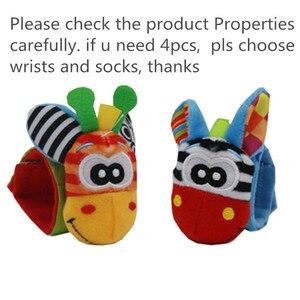 Image 2 - Детские носки, погремушки, игрушки, погремушки на запястье и носки для ног 0 24 месяцев, скидка 20%