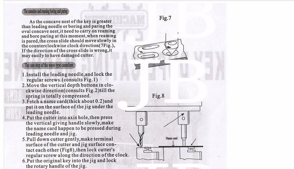 368A Key Cutting Duplicated Machine Instruction 4