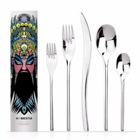 Top Grade Durable Flatware Set 5 Pcs Spoon Fork Knife Kit Multi Used Western Cutlery Restaurant
