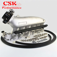 Intake Manifold +Fuel Rail &90 80mm Q45 Throttle Body Fits For NISSAN Skyline R32 R33 RB25 RB25DET GTS T